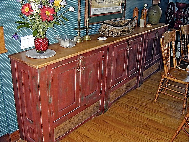 reproduction pine sideboard